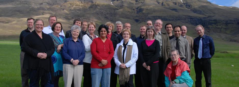 Bahá'íar á Landsþingi bahá'ía á Íslandi sem haldið var á Kistufelli í apríl 2008